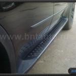 Алюминевые пороги черные BMW X5 E70 Black Line